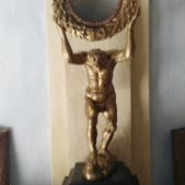 Magical Mirror of western ceremonial magic. Within Congo Traditions we use the mpaka mensu, horn and mirror and the uria mensu, common white plate.